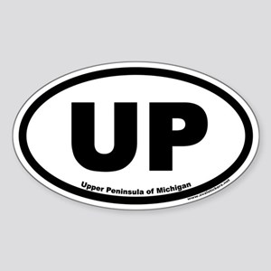 Upper Peninsula of Michigan UP Euro Oval Sticker