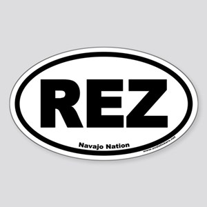 REZ Euro Oval Sticker for the Navajo Nation