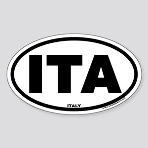 Italy ITA Euro Oval Country Code Sticker