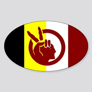 American Indian Movement Sticker (Oval)