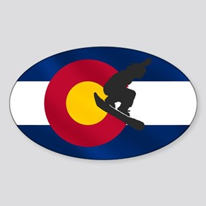 Colorado Snowboarding Sticker (Oval)
