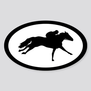 Thoroughbred Racehorse Oval Sticker