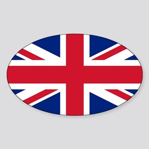 Union Jack Sticker (Oval)