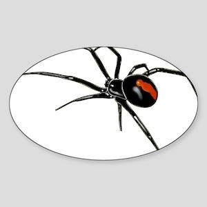 Black Widow Spider Oval Stickers Cafepress
