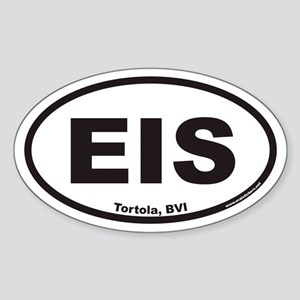 Tortola EIS Euro Oval Sticker