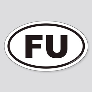 FU Euro Oval Sticker