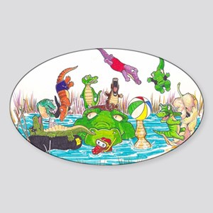 Ten Little Gator Eggs Sticker