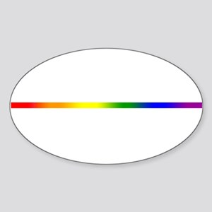 PRIDE STRIPE Sticker (Oval)