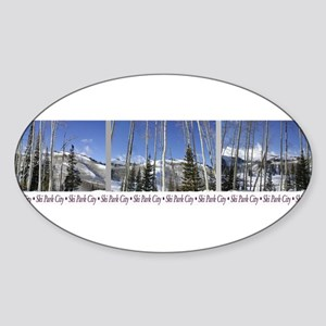 Park City on top of Deer Vall Oval Sticker