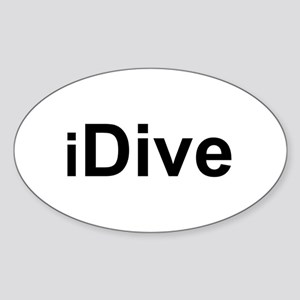 iDive Oval Sticker