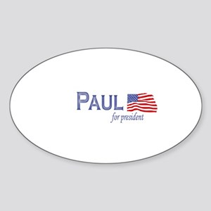 Ron Paul for president flag Oval Sticker