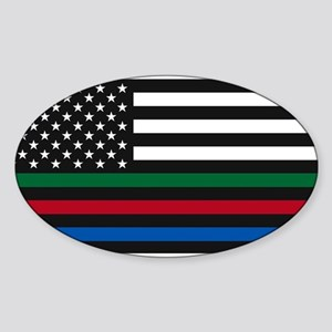 Thin Blue Line Decal - USA Flag - Red, Blu Sticker