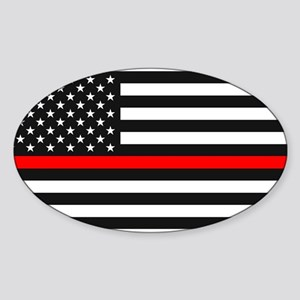 Thin Red Line - American United States USA Sticker