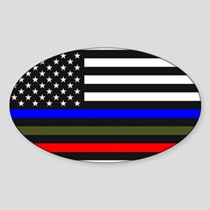 Thin Blue Line Decal - USA Flag Red, Blue Sticker