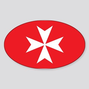 White Maltese Cross Sticker