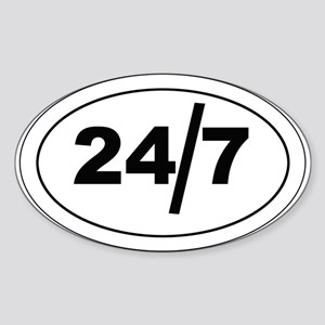 24/7 Sticker (Oval)