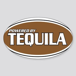 Powered By Tequila Oval Sticker
