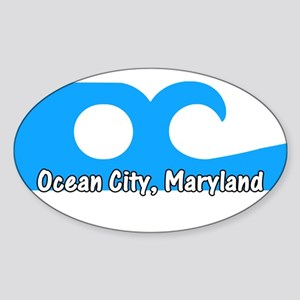 Ocean City Flag Oval Sticker