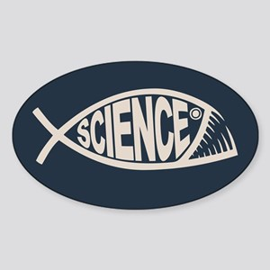 Science Fish II Sticker (Oval)