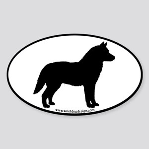 Siberian Husky Dog Breed Sticker (Oval)