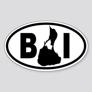 Block Island MAP Oval Sticker