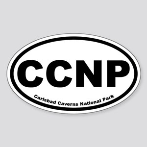 Carlsbad Caverns National Park Oval Sticker