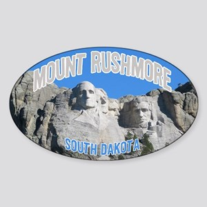 Mount Rushmore National Monument Oval Sticker