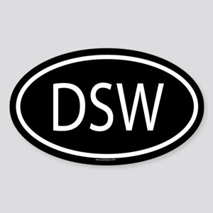 DSW Oval Sticker