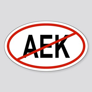 AEK Oval Sticker