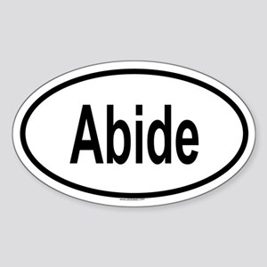 ABIDE Oval Sticker