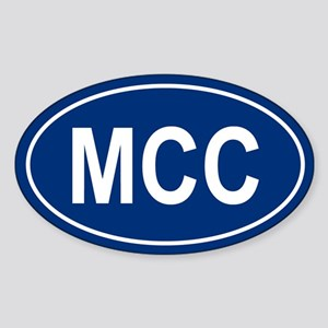 MCC Oval Sticker
