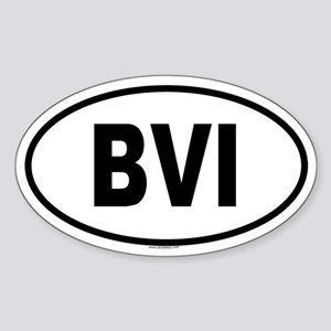 BVI Oval Sticker