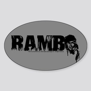 R is for Rambo Oval Sticker