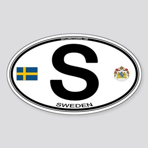 Sweden Euro-style Code Oval Sticker