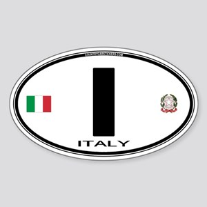 Italy Euro Oval Oval Sticker