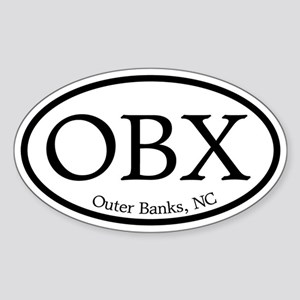 OBX Outer Banks, NC Oval Oval Sticker