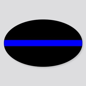 Police Thin Blue Line Sticker (Oval)