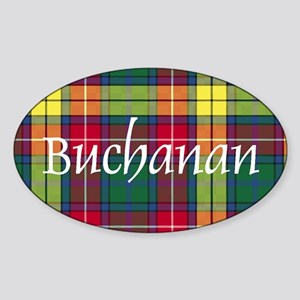 Tartan - Buchanan Sticker (Oval)