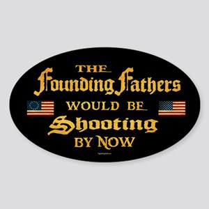 Founding Fathers Shooting Sticker (Oval)
