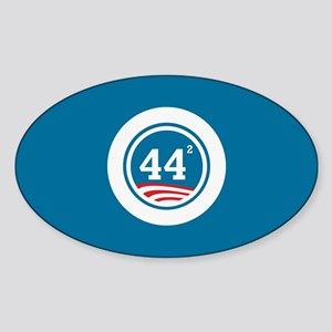 44 Squared Obama Sticker (Oval)