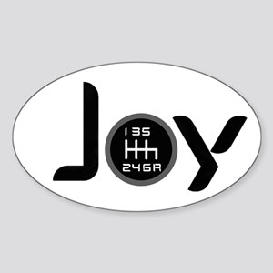 Joy-6sp Black (Clear Pattern) Sticker (Oval)