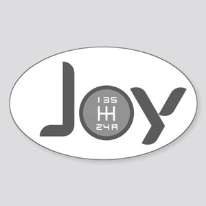 Joy-5sp Grey Sticker (Oval)