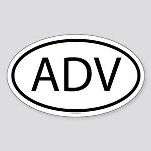 ADV Sticker (Oval)