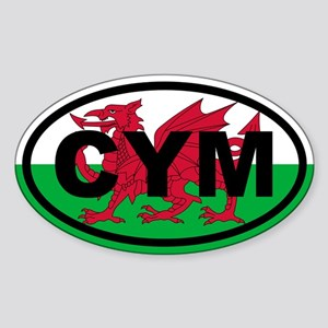 Wales CYM flag Sticker