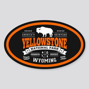 Yellowstone Vintage Sticker (Oval)