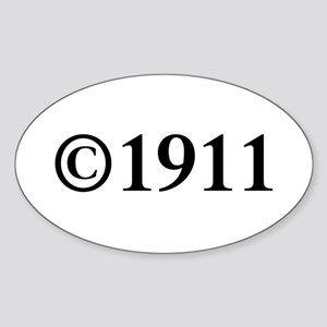 Copyright 1911-Tim black Sticker
