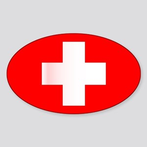 Swiss National Flag Sticker
