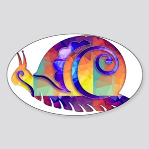 Polygon Mosaic Snail Multicolored Sticker