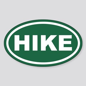 Green Hike Euro Oval Sticker