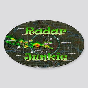 Radar Junkie Oval Sticker